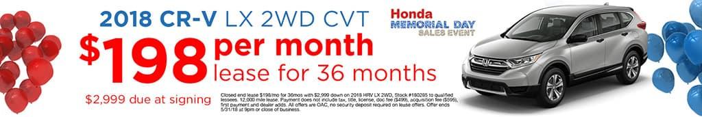 CR-V Offer