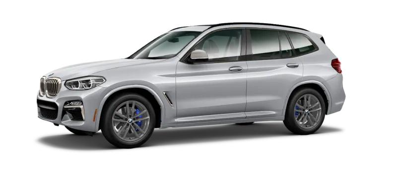 2021 BMW x3 M40i black angled
