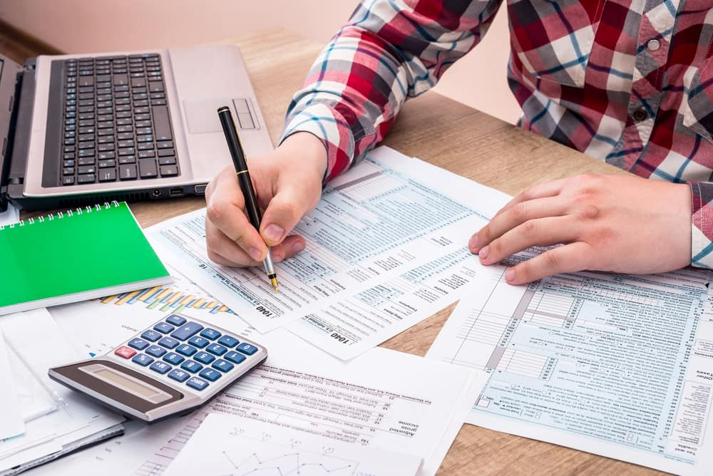 Filling Out Tax Forms on Paper