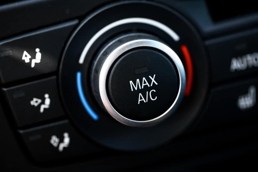 Max AC button on a car's dashboard