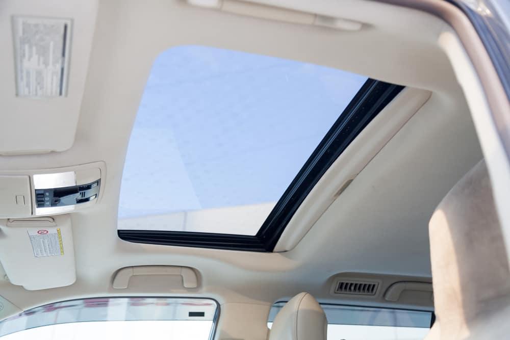 Moonroof on a modern car