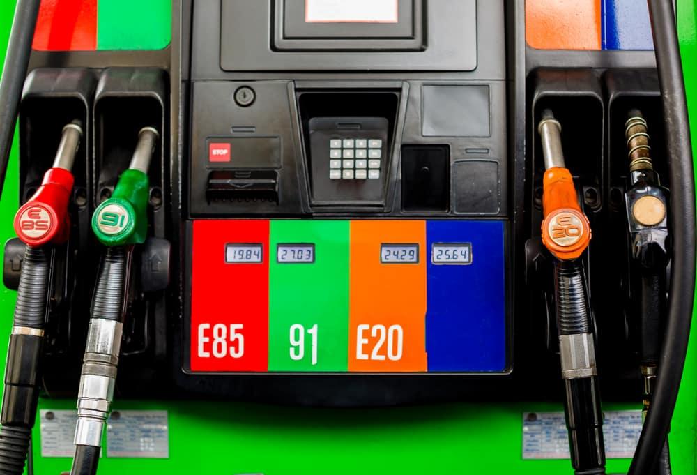 E85 Gas Pump at a gas station