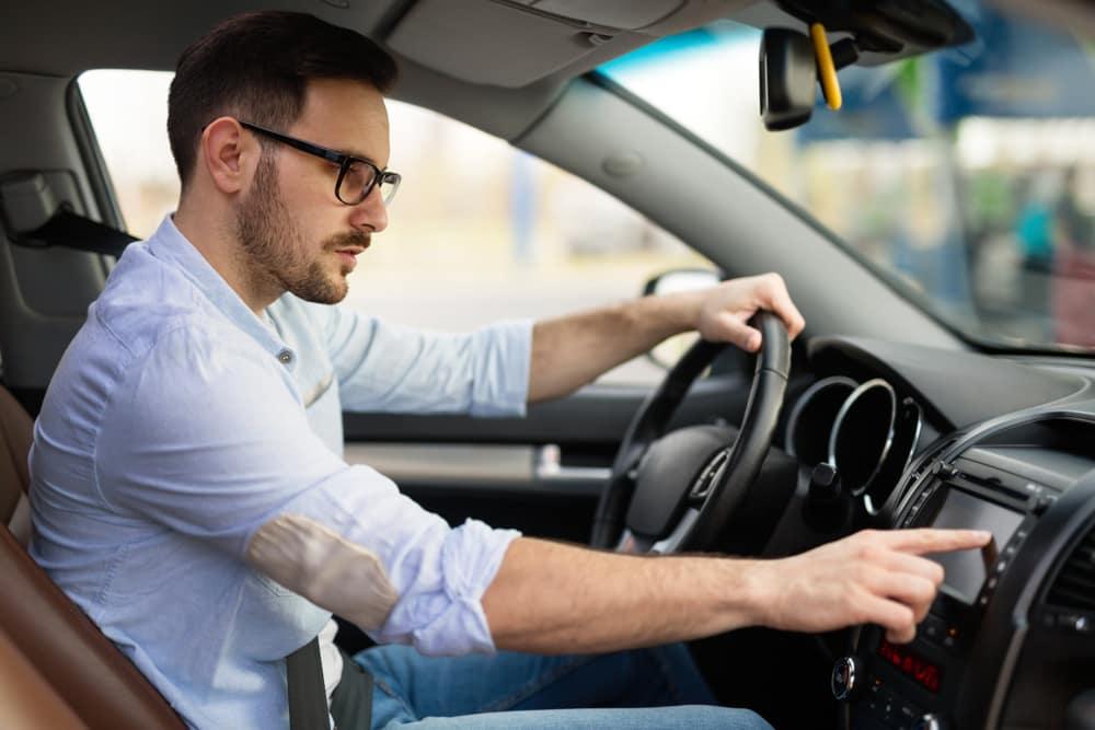 Man Using Navigation Technology