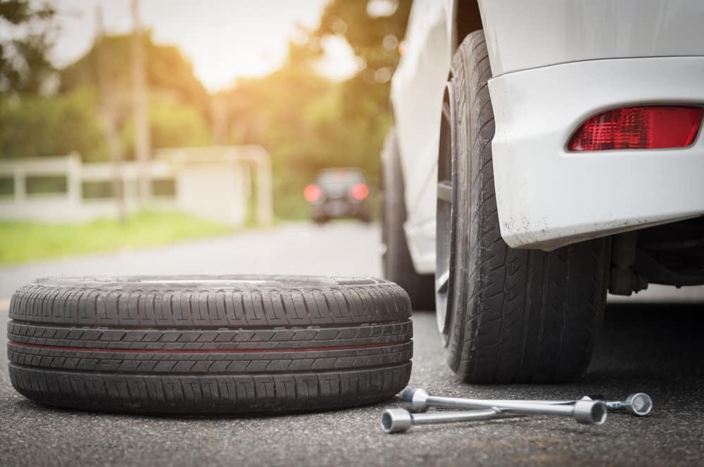 Spare Tire on a Car