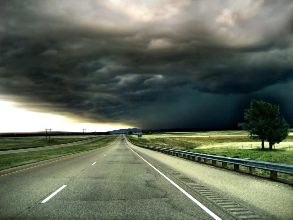 Tornado Near a Road