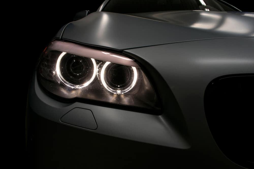 Car headlights on a modern vehicle
