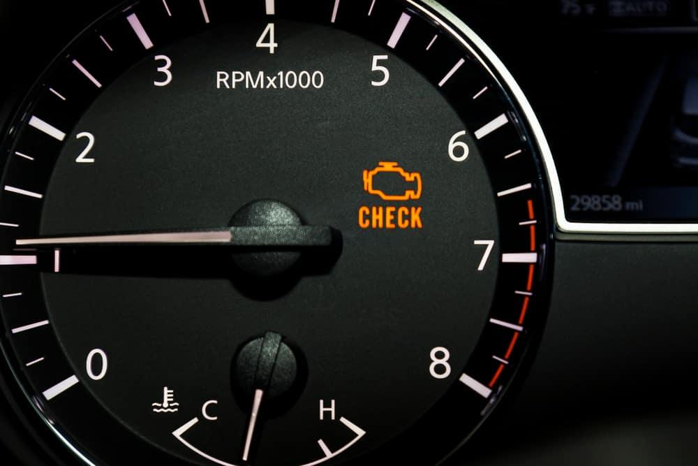 Check Engine light on speedometer
