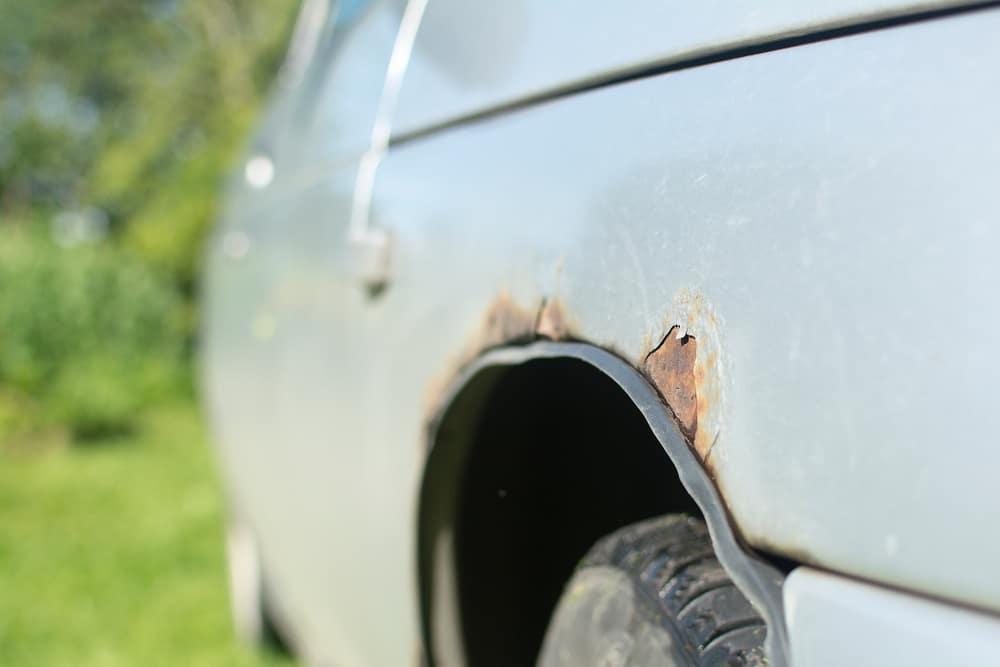 Rust on car fender