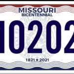 Missouri Bicentennial License Plates