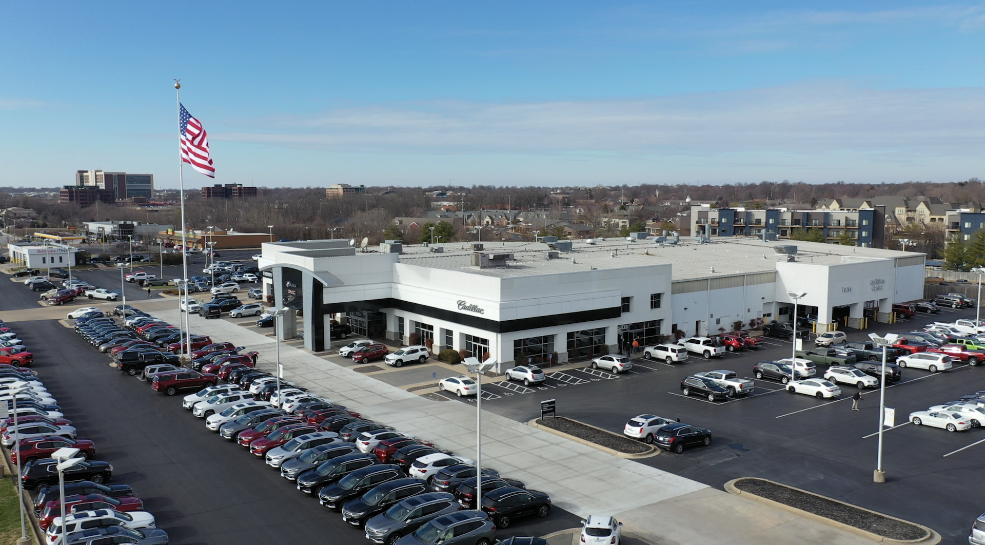 Welcome to Thompson Sales Company | Exterior aerial shot of the dealership