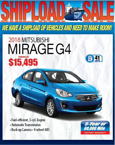 2018 MITSUBISHI MIRAGE G4
