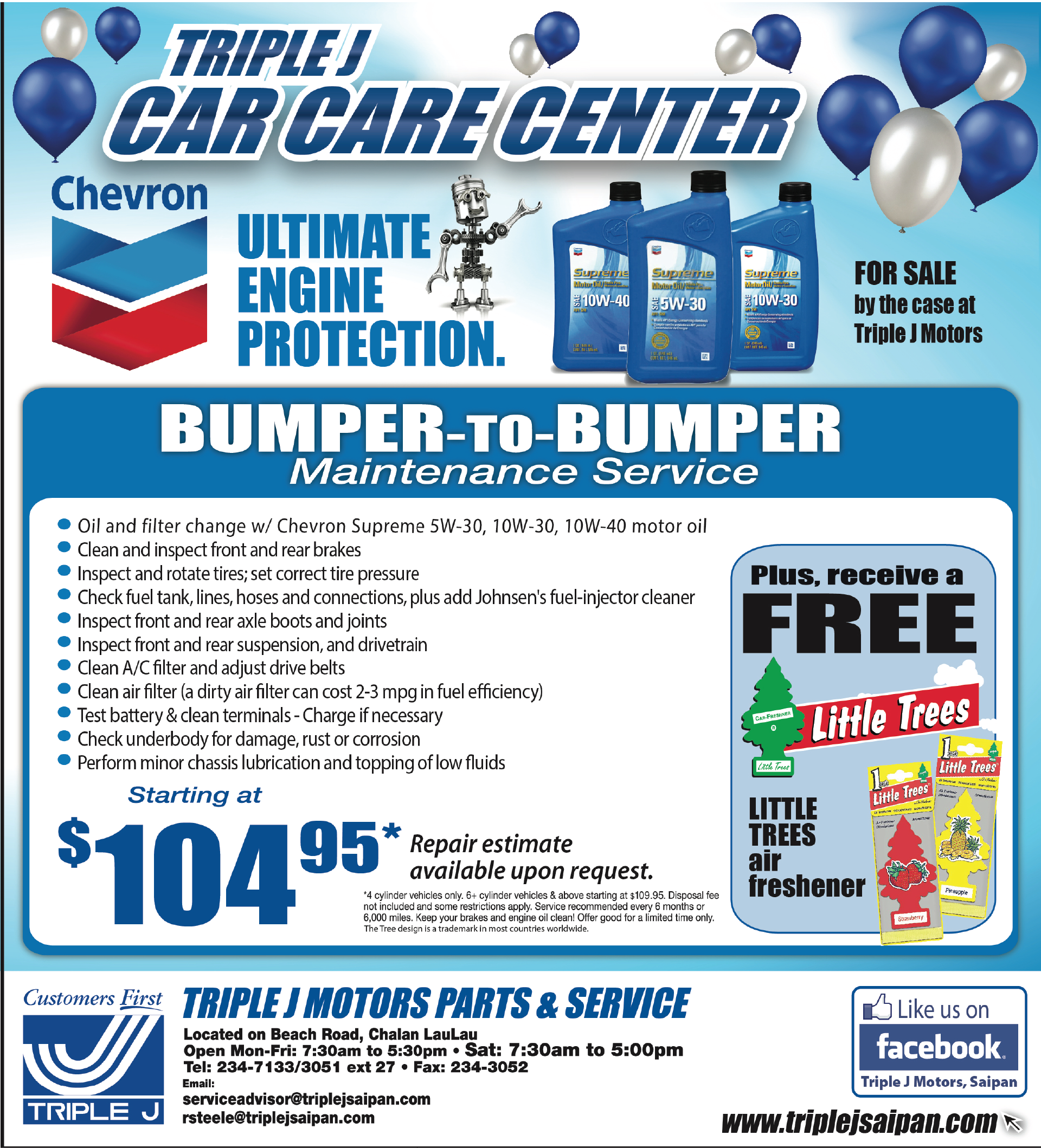 Auto Service - on Guam | Triple J Saipan