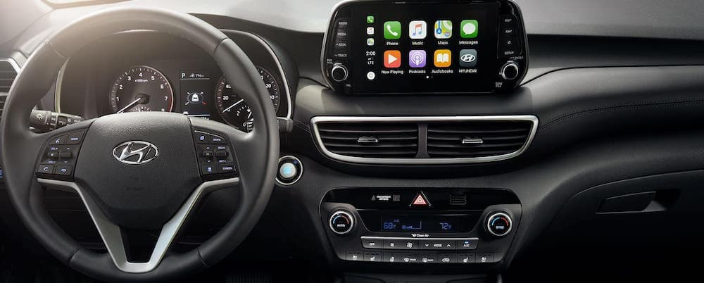 Hyundai Tucson Dashboard with Apple CarPlay Bluetooth
