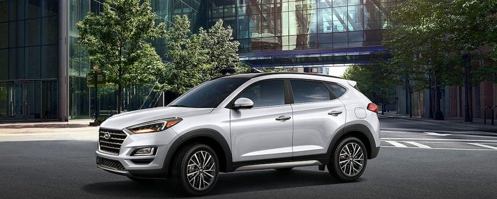 White 2019 Hyundai Tucson Ultimate Side View