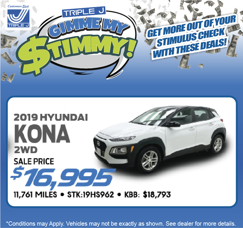 2019 Hyundai Kona 2WD