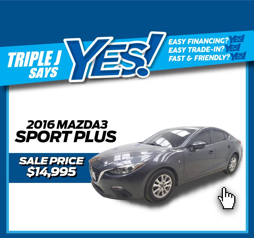 2016 Mazda3 Sport Plus
