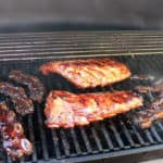 Ribs being barbaqued