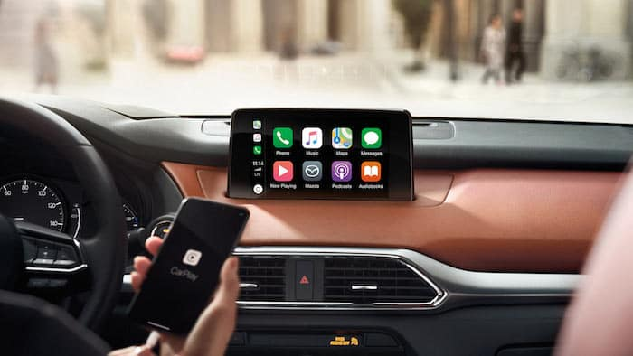 Mazda Connect apps display with Apple CarPlay