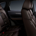 Side view of first and second row seats inside the 2019 Mazda CX-5