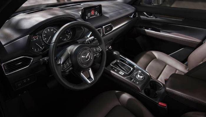 Aerial view of front row seats inside 2019 Mazda CX-5