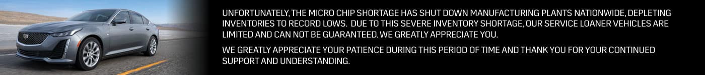 Microchip shortage banner