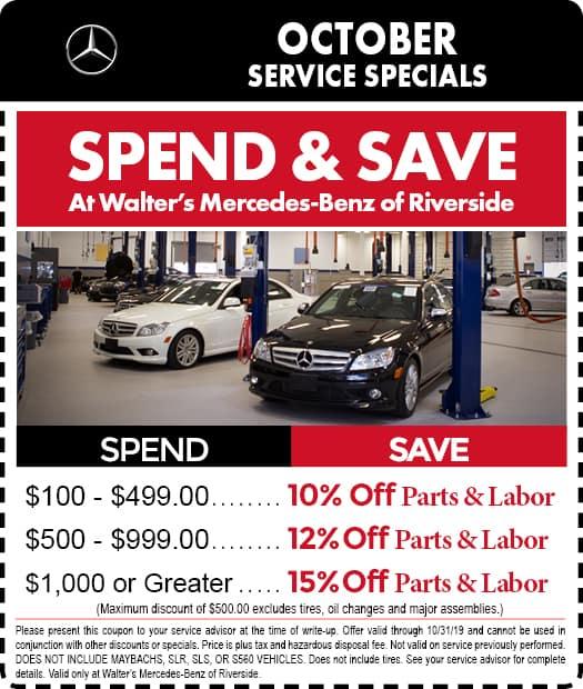 Mercedes-Benz Service Coupons & Specials | Riverside CA