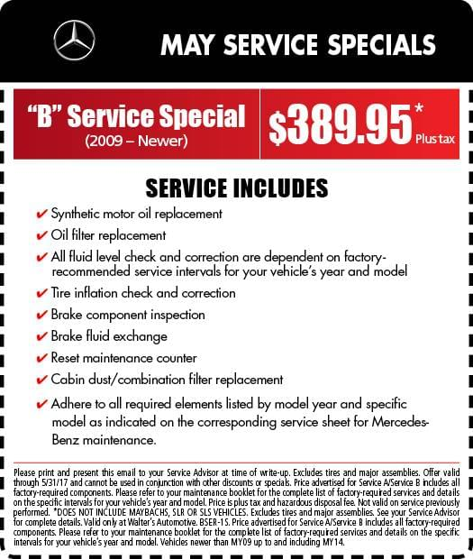 Mercedes benz service specials auto repair in riverside for Mercedes benz service b coupons