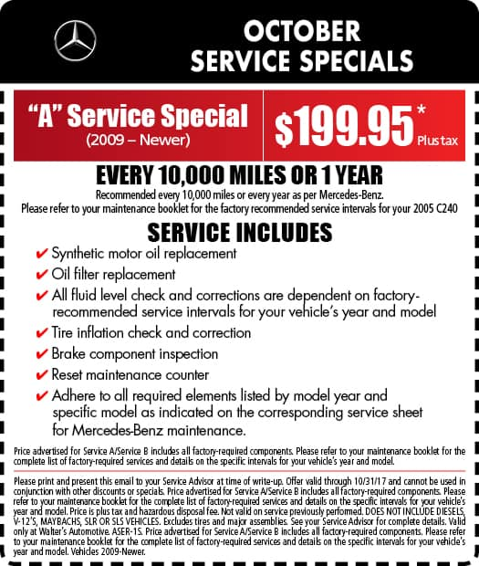 Mercedes-Benz Service Specials | Auto Repair in Riverside
