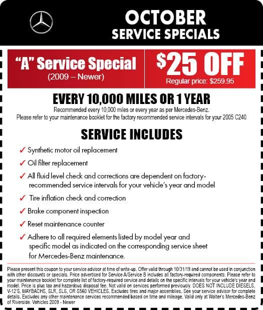 mercedes benz service coupons california