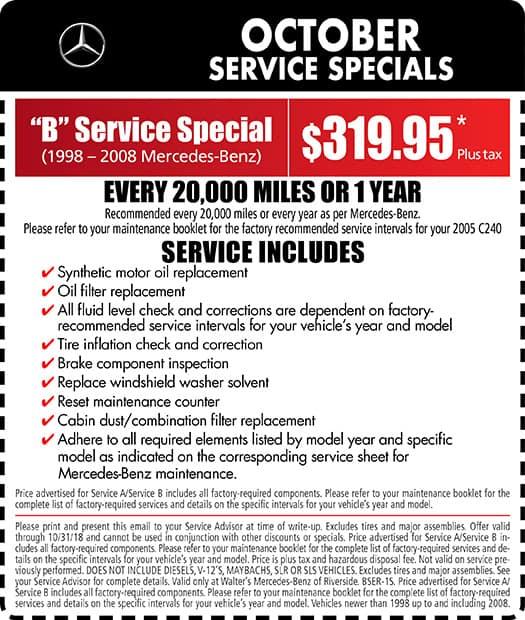 U201cBu201d Service Special (1998 U2013 2008 Mercedes Benz)