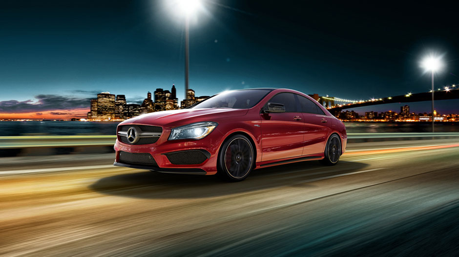 The mercedes benz cla45 amg delivers speed efficiently for Walter mercedes benz riverside ca