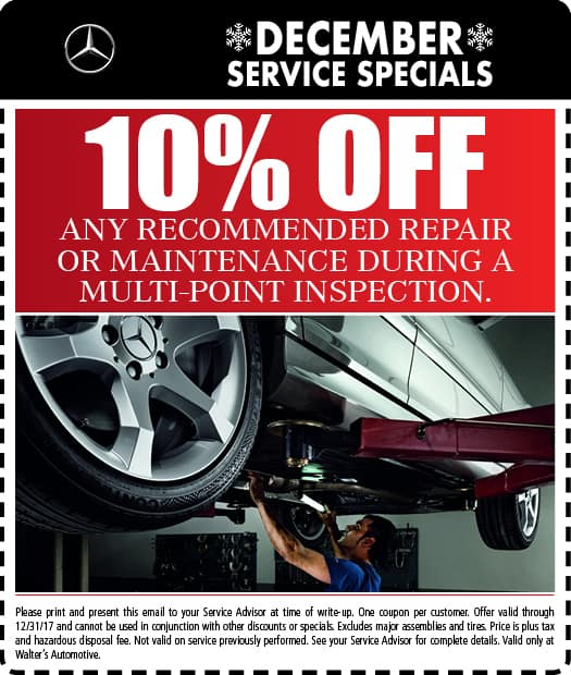 Service specials test walter 39 s mercedes benz of riverside for Service coupons for mercedes benz