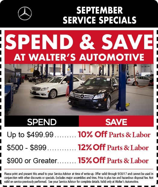 Mercedes service coupons