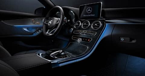 2018 Mercedes-Benz C-Class sedan LED lighting