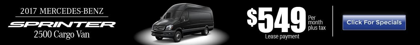 2017 Mercedes-Benz Sprinter Van for Lease near Corona, CA