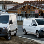 Mercedes-Benz Metris vans on jobsite