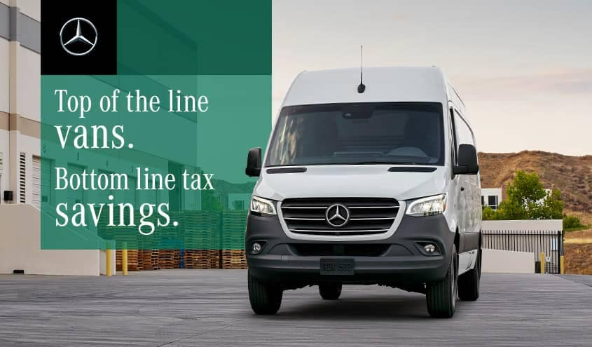 MB Sprinter Vans tax text