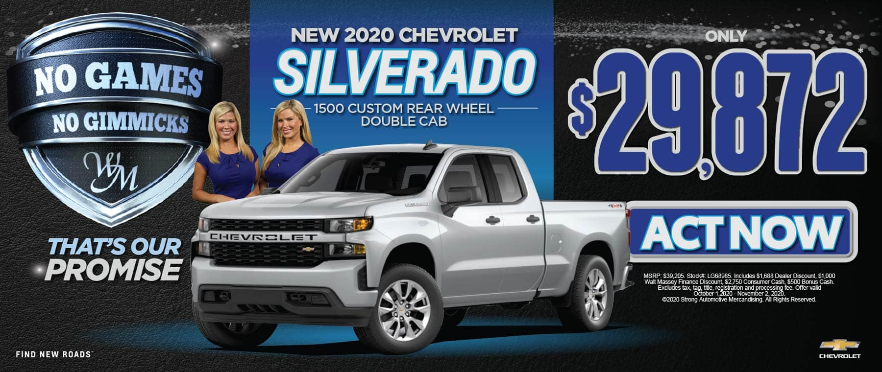 NEW CHEVY SILVERADO FOR $29,872 ACT NOW