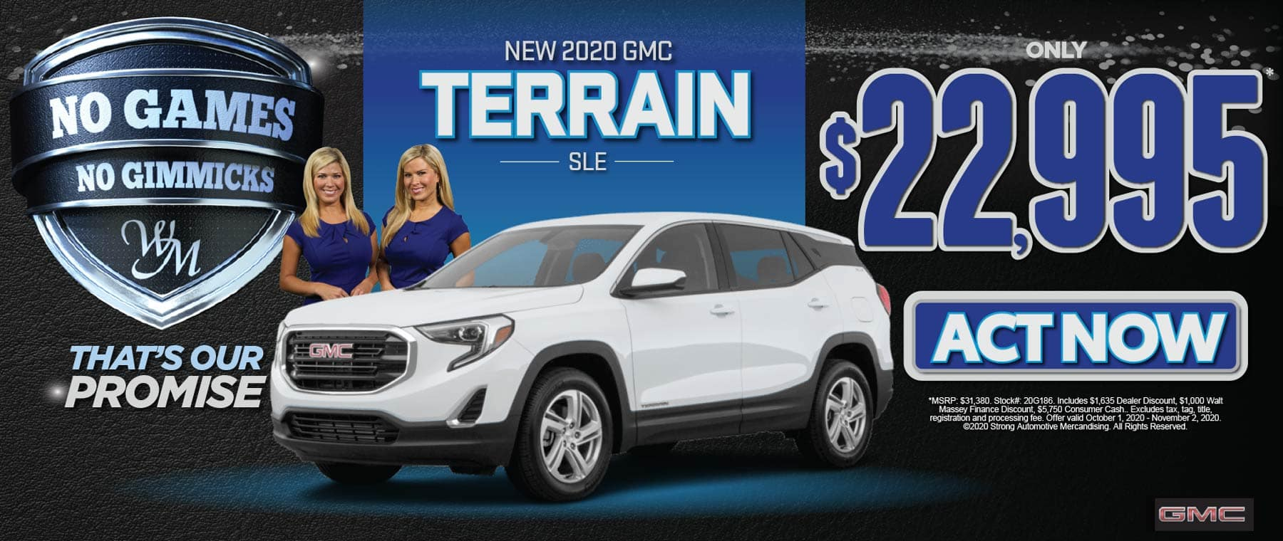 NEW GMC TERRAIN FOR $22,995 ACT NOW