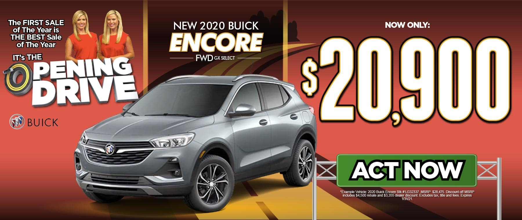 New 2020 Buick Encore FWD GX Select Now Only $20,900!*