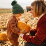 Finding a perfect pumpkin for our Jack-O'-Lantern