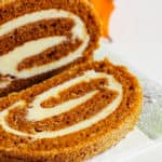 Pumpkin Roll with white icing
